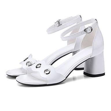 06782203 Cuir Bottier Talon Noir Sandales Nappa Eté Femme Blanc Confort Chaussures vOcq0Y65w