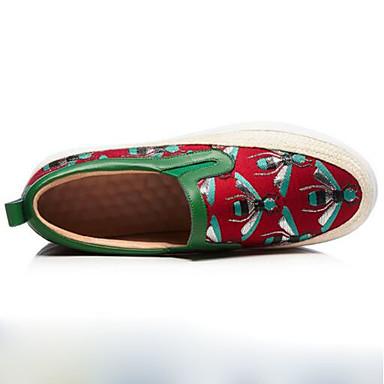 Ballerines Nappa 06785284 rond Noir Femme Printemps Confort Talon Chaussures Plat Bout Rouge clair Cuir ESwfwxXq