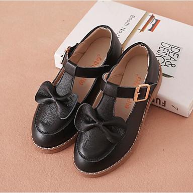 89cdaff1b28a1 Fille Chaussures Cuir Printemps   Automne Confort Ballerines Noeud pour  Enfants Noir   Rouge   Rose
