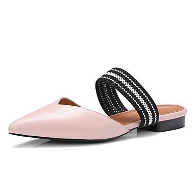 Women's Shoes Nappa Leather Spring & Summer Comfort Heel Clogs & Mules Block Heel Comfort Black / Beige / Pink 4b8802