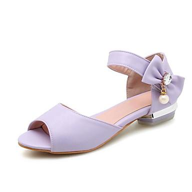 Printemps Chaussures Talon 06790870 Sandales Polyuréthane Blanc Bas Rose Femme Violet Confort Eté xqEPYPwd