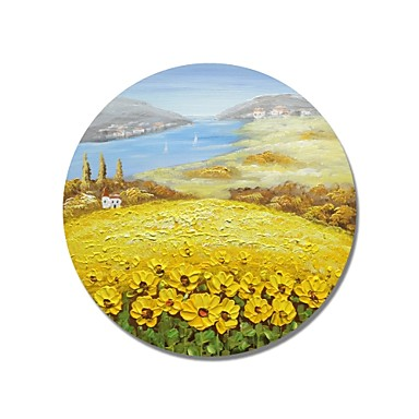 Hang oslikana uljanim bojama Ručno oslikana - Pejzaž Comtemporary / Moderna Platno
