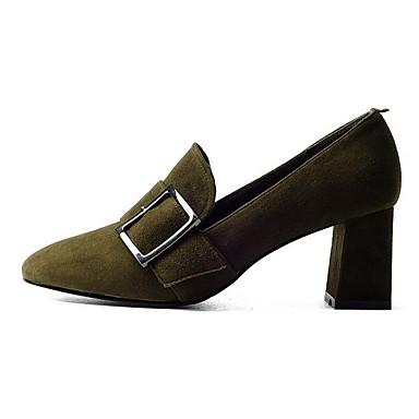 Automne Talon Femme Noir Chaussures Chaussures Talons Confort 06833235 Daim Vert Bottier à qABAH