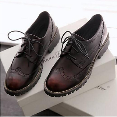 06810287 Confort Punta Mujer Plano Oxfords Primavera Microfibra Tacón Borgoña cerrada Negro Zapatos Verano qnxCURU7gw