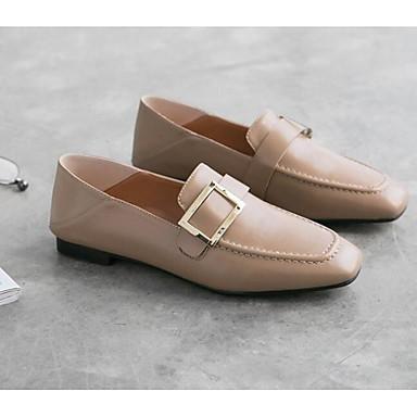 68651ceb76cb15 Talon Mocassins Automne Femme Cuir Confort Noir Marron et Nappa 06818721  Printemps Amande Chaussures Plat Chaussons ...