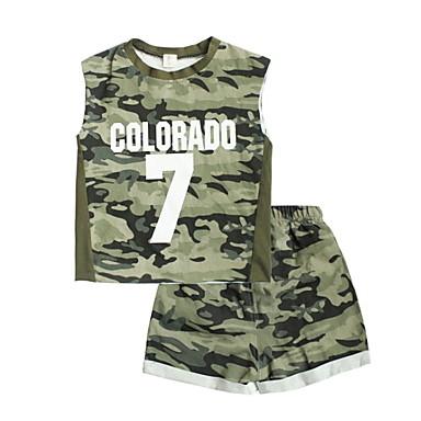 Djeca Dječaci Print / Color block Bez rukávů Komplet odjeće