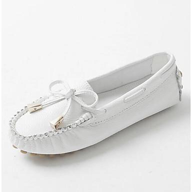 Mocassins et Cuir Bout Confort Eté Printemps Blanc Plat Chaussons fermé D6148 06832243 Argent Talon Femme Chaussures YXFqwBB