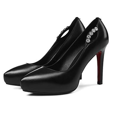 Aiguille Chaussures Confort Rouge 06827826 Blanc Automne Femme Noir Talon Talons à Chaussures Cuir Nappa xaz6wq6X
