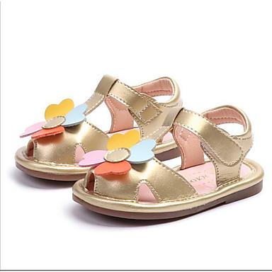 Djevojčice Cipele PU Proljeće ljeto Cipele za bebe Sandale Cvijet za Dijete koje je tek prohodalo Zlato / Obala