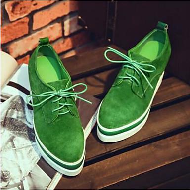 rond Creepers Vert Chaussures 06791913 Oxfords Femme Confort Daim Eté Noir Bout 0HSwXZ