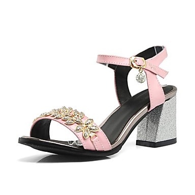 Bottier Noir Eté Femme Talon Polyuréthane Chaussures Blanc Basique 06799916 Sandales Confort Rose Escarpin vvnUW6