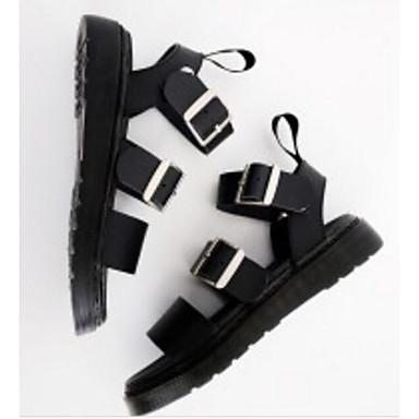 Eté Confort Noir Chaussures Rouge Blanc Creepers Cuir 06830598 Sandales Femme Nappa IqtBBw