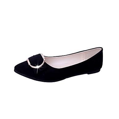 Žene Cipele Brušena koža Proljeće Udobne cipele Ravne cipele Ravna potpetica Krakova Toe Sive boje / Pink / Tamno zelena