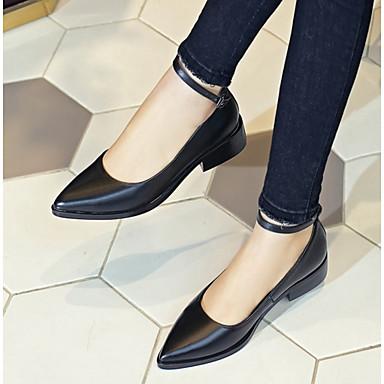 Noir 06831020 Bout pointu Block Confort Printemps Nappa Chaussures Femme Cuir Heel Bateau Chaussures été Blanc 6xABw