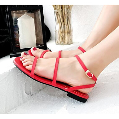 des faible chaussures en cuir au confort d'été des sandales faible des nappa noire et rouge e7aebc