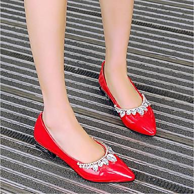 D6148 Printemps Bottier Mocassins Noir été Rouge et Talon Chaussons Argent Verni Chaussures 06796450 Confort Cuir Femme PnqztR