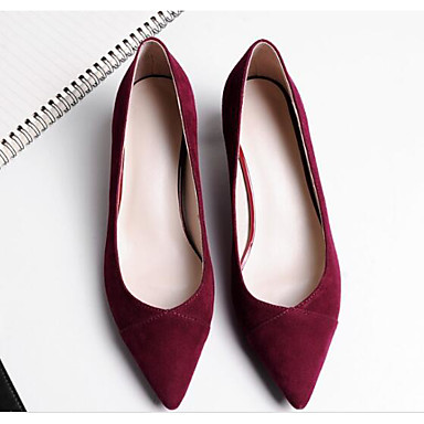 Women's Shoes Sheepskin Spring / Fall Comfort / Basic Pump / Heels Stiletto Heel Black / Pump Burgundy 2accb5