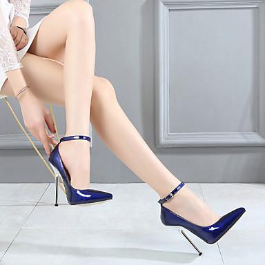 à Evénement Basique Escarpin Talon Mariage 06791762 Chaussures Printemps amp; Talons Femme été Chaussures Aiguille Argent Soirée Polyuréthane pointu Bout Rouge Bleu nw1XqzH0