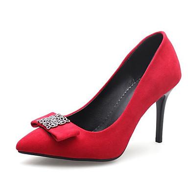 Basique Polyuréthane Talons Vert 06837882 à Aiguille Rouge clair Chaussures Femme Escarpin Noir Automne Chaussures Printemps Confort Talon YwH5q