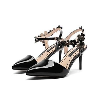 Rouge Aiguille Nappa Cuir Chaussures Sandales Confort Femme Amande Noir Printemps Talon 06832895 0faqzw5Tx