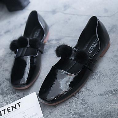 Plat Confort Beige Ballerines été Printemps 06835439 Noir Talon Femme claire Plume Brun Marche Bout Polyuréthane rond Chaussures XwI8IqxO