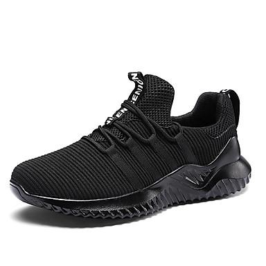 Men's Mesh / Summer Comfort Athletic Shoes Walking Shoes Black / Mesh Gray / Wine 55e72b