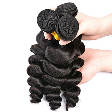 זול תוספות משיער אנושי-3 חבילות שיער פרואני גלי משוחרר 8A שיער אנושי שיער אדםלא מעוב טווה שיער אדם שיער Bundle פתרון חפיסה אחת 8-28 אִינְטשׁ צבע טבעי שוזרת שיער אנושי רך מכירה חמה אופנתי תוספות שיער אדם בגדי ריקוד נשים