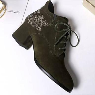 Talon Noir Bout Automne fermé 06840105 à Confort Véronèse Daim Talons Bottier Chaussures Femme hiver Chaussures Vert 84f7q7
