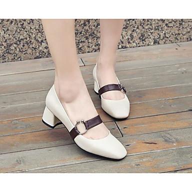 Bottier 06776839 Printemps Cuir Femme Chaussures Confort Nappa Noir Talon Talons à Beige Chaussures qfxwHRz