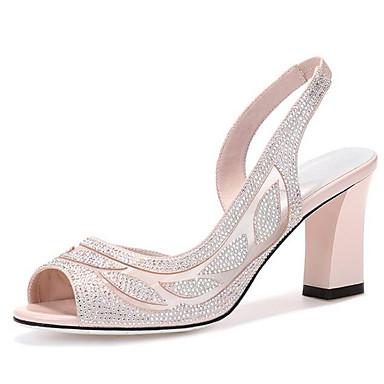 Rose Microfibre Confort Noir 06840727 Eté Escarpin Sandales Basique Talon Chaussures Femme Bottier UqfZUO