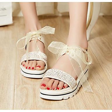 Morado Azul Zapatos plataforma Sandalias PU Media Verano 06830430 Confort Mujer Px4OFx