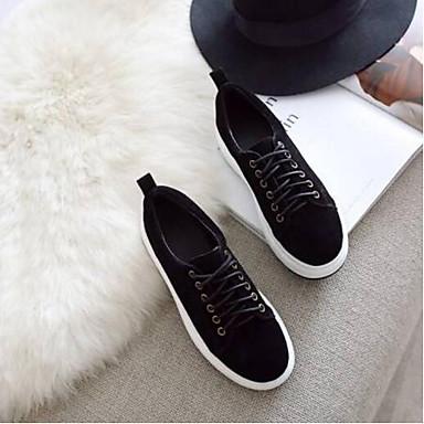 Kaki Chaussures Daim Noir Eté Confort fermé Marron Basket Bout Creepers 06797434 Femme Printemps aPwUF