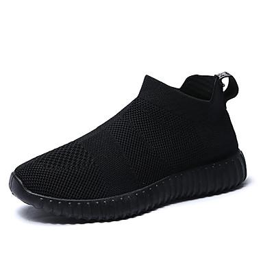 Zapatos Confort Mujer Zapatillas Tacón Verano Fitness Negro Atletismo de Malla 06811684 Rojo Gris Plano Negro tTqfxAw