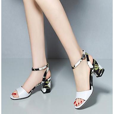 Eté Bottier Talon Chaussures Confort Femme Blanc 06776186 Cuir Sandales Nappa Noir txnp0Bwgq