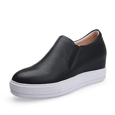 fermé Chaussures Printemps Eté Noir Plat Blanc et Confort 06797281 Chaussons Nappa Bout Talon D6148 Cuir Femme Mocassins SwqdOAO