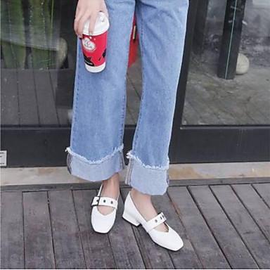 des chaussures en cuir au confort nappa d'été flats épais nappa confort bouts fermés blanc / noir / almond f727fa