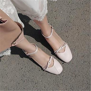 Femme Chair été Chaussures Bout rond Talon Jane Noeud Mary Polyuréthane à Printemps 06782266 Talons Bottier Beige Chaussures rxxwZ4