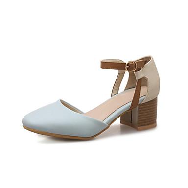 Bride Rose Evénement Bottier Beige été carré 06778190 à Printemps Cheville Femme Bleu de Chaussures Polyuréthane Chaussures Bout amp; Talons Soirée Talon faqx6HI