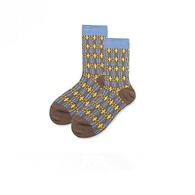 abordables Accessoires pour Chaussures-Homme Chaussettes Rayé Soulage le Stress Coton EU36-EU42