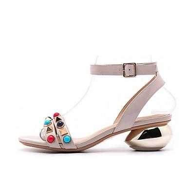 Chaussures Nappa Bottier été Gris clair Femme Talon Confort Sandales Printemps Cuir Rouge 06848738 EZpwdq