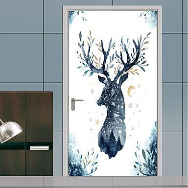 6f682b41a11 Αυτοκόλλητα πόρτας - 3D Αυτοκόλλητα Τοίχου / Animal αυτοκόλλητα τοίχου Ζώα  / Άνθινο / Βοτανικό Παιδικό