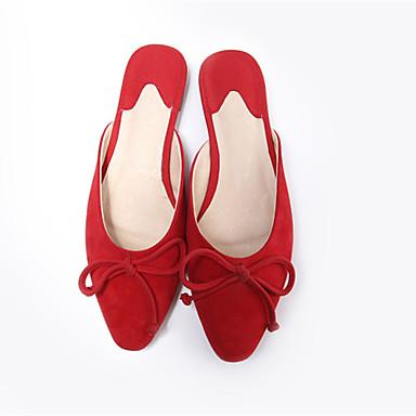 Eté Daim amp; Rose Talon Chaussures Bas Femme Sabot Noir Mules 06864602 Confort Rouge nSaWWpfAc