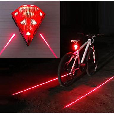 Недорогие Велосипедные фары и рефлекторы-Лазер Светодиодная лампа Велосипедные фары Задняя подсветка на велосипед огни безопасности Горные велосипеды Велоспорт Водонепроницаемый Несколько режимов Супер яркий 14500 20 lm USB Перезаряжаемый
