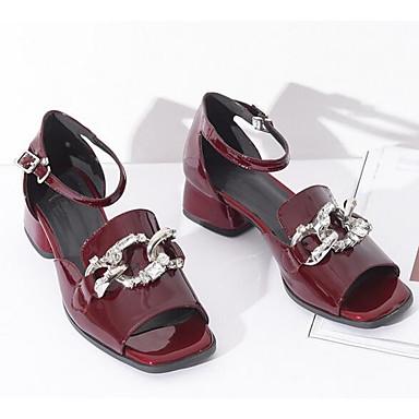 Femme de Nappa Talon 06870071 Talons Vin Chaussures Bottier Cuir à confort Noir Eté Chaussures Arx56fqA