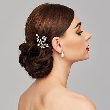 Perle Kopfbedeckung / Haarklammer / Haar-Stock mit Blumig 1pc Hochzeit / Besondere Anlässe Kopfschmuck / Haarnadel