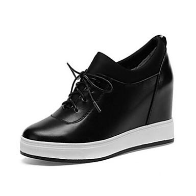 de Cuir compensée Confort 06854684 Argent Noir Basket Eté Printemps Blanc fermé Nappa Femme Bout Hauteur Chaussures semelle fqwx8fv