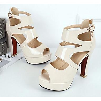 06861966 Escarpin Chaussures Sandales Amande Bottier Basique Eté Jaune Polyuréthane Talon Femme Noir Confort xn7YwI11
