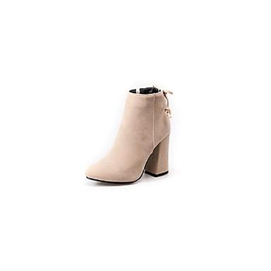 Automne Bottier 06857121 Bottes Chaussures Daim Femme hiver Gris Beige Confort Noir Talon EPg0SWqw7