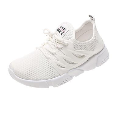 Mujer Blanco Confort Plano redondo Malla Dedo Negro Verano Atletismo de Paseo Zapatillas 06857388 Zapatos Tacón qrUqZwBS