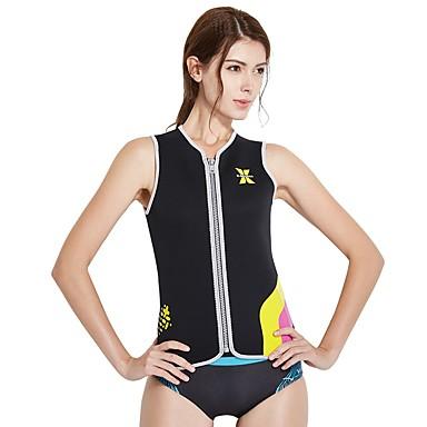 Women s Wetsuit Top 3mm SCR Neoprene Vest   Gilet Thermal   Warm Sleeveless  Front Zip - 4ebe4761c